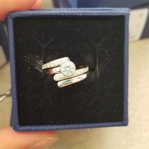 Swarovski ring size 6 2 in 1 ring